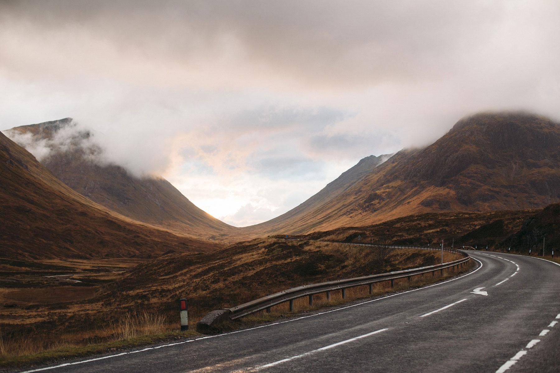empty road Scotland