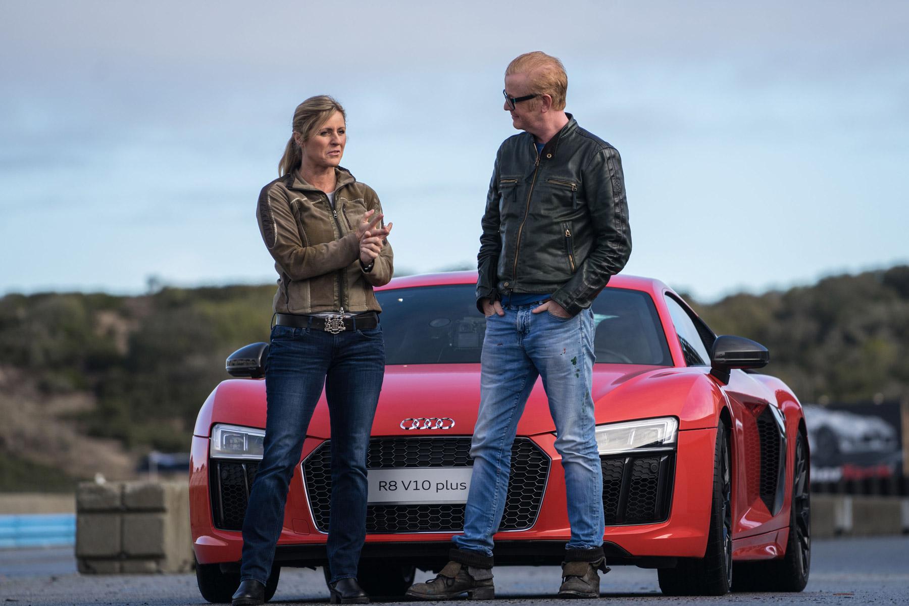 Sabine Schmitz makes Chris Evans throw up in an Audi R8