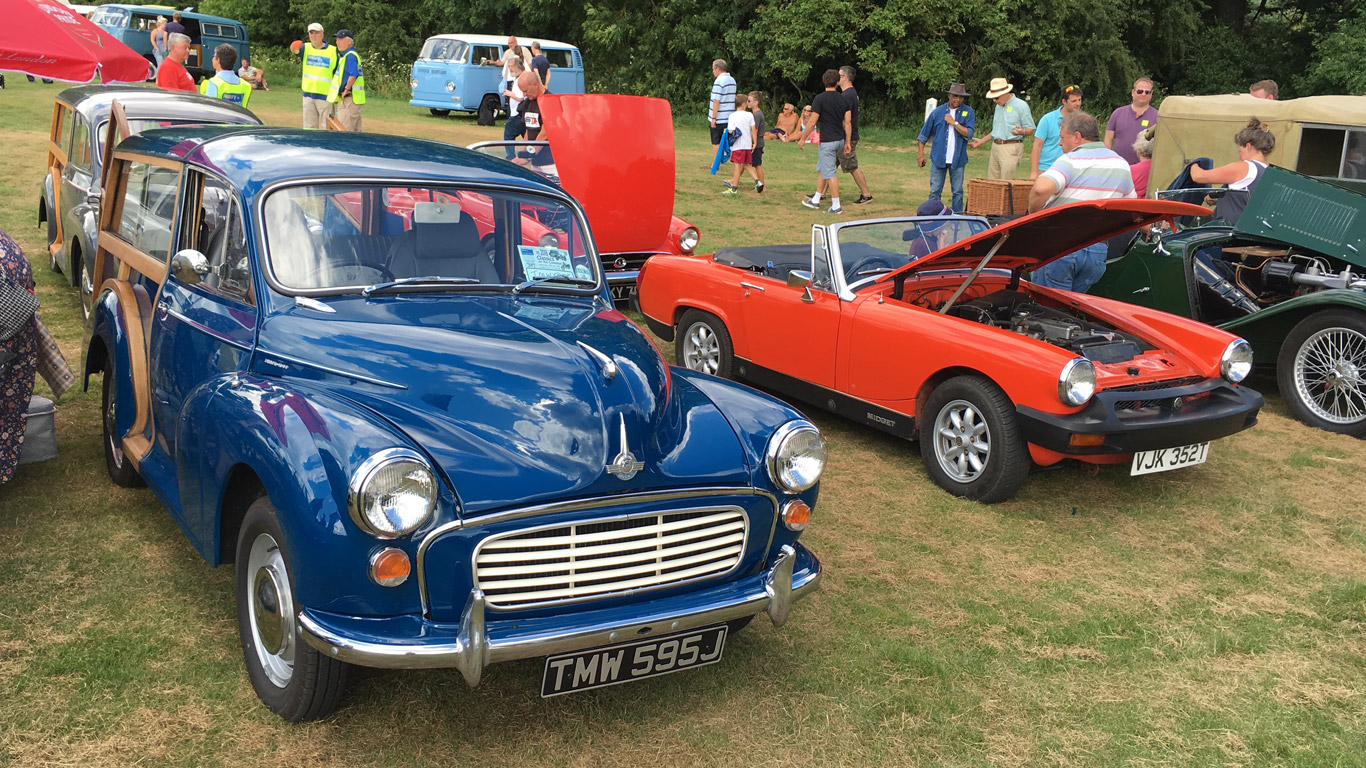 Morris Minor and MG Midget