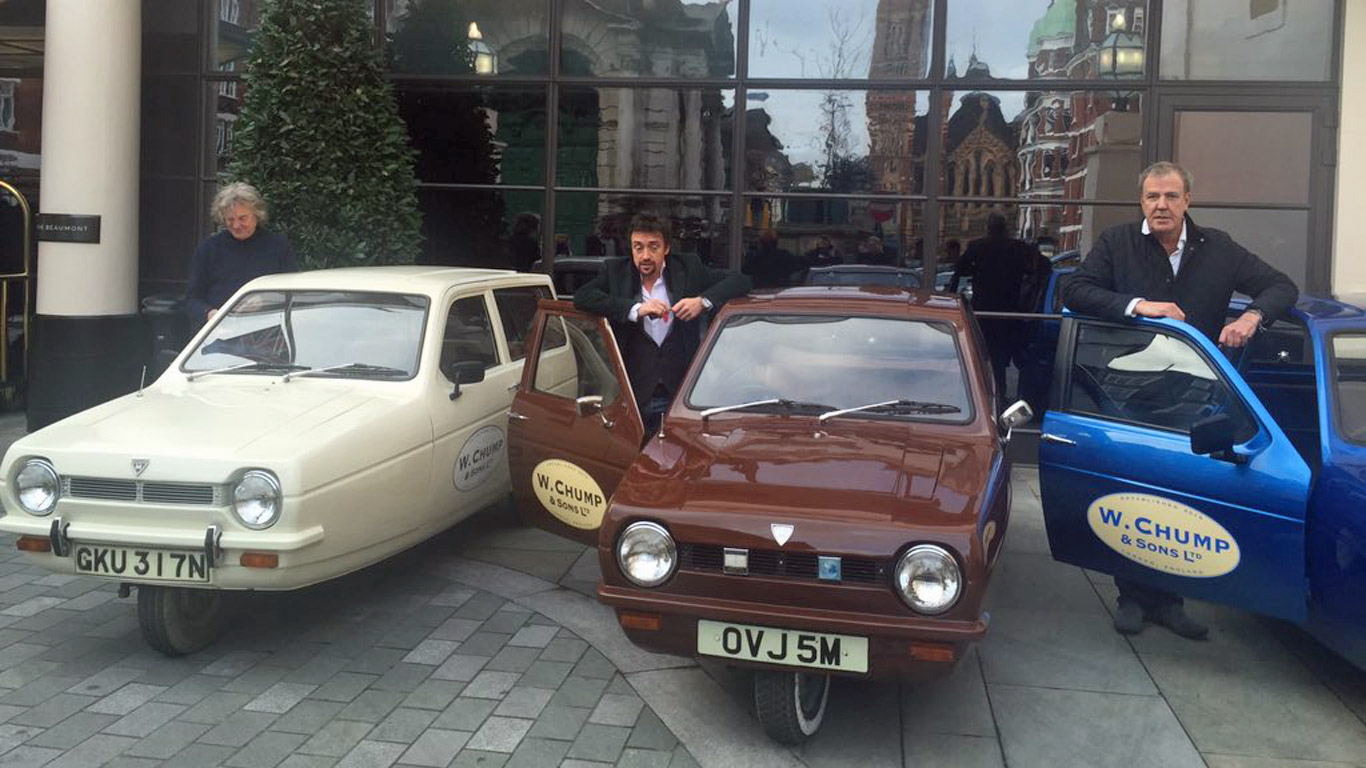 ...and it owns four Reliant Robin company cars