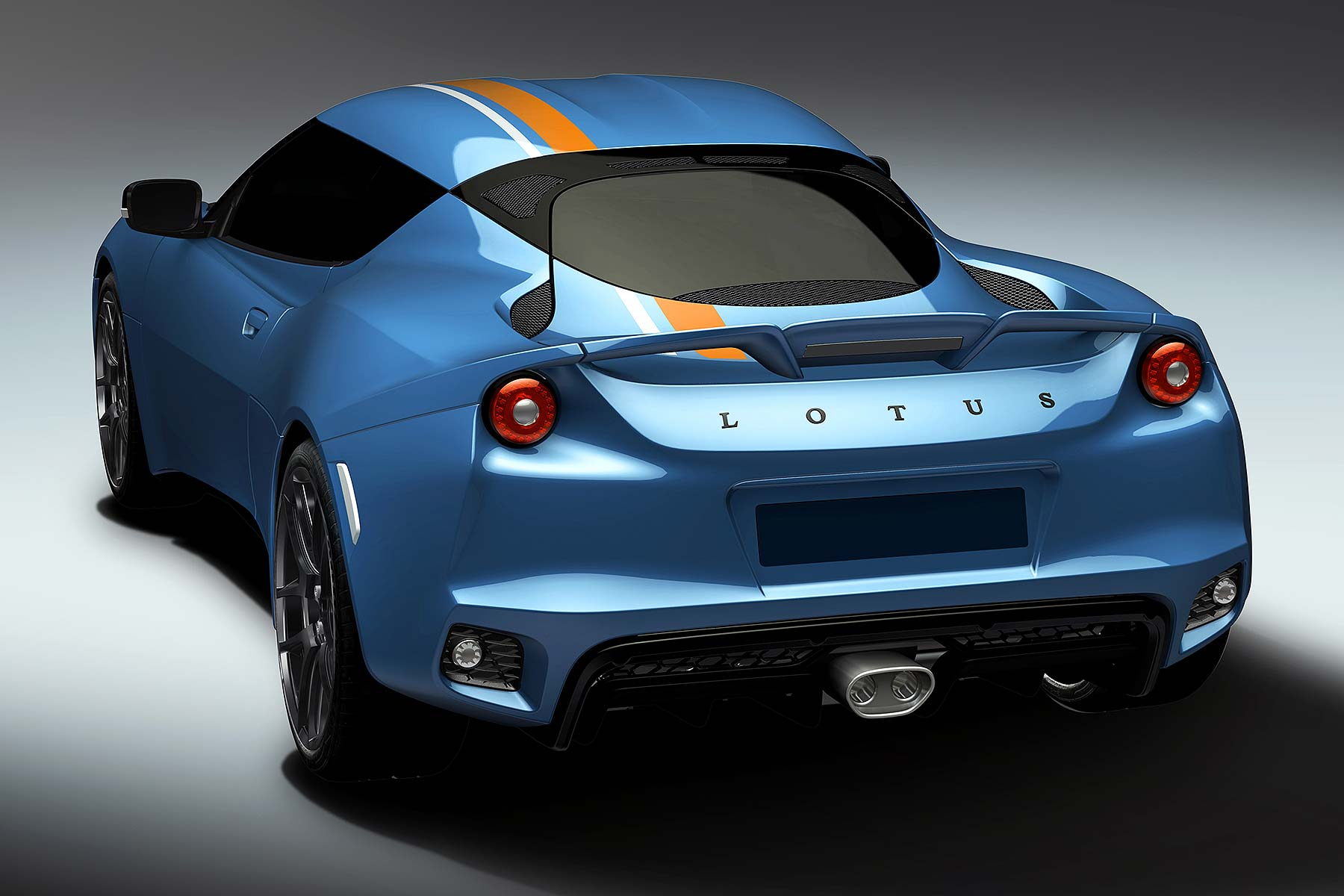 Lotus Evora 400 Blue and Orange Edition