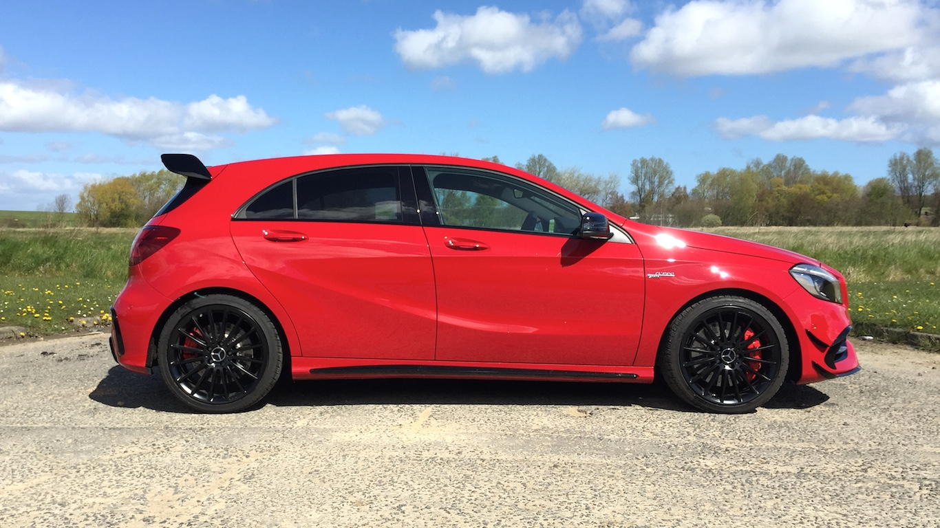 mercedes amg a45 2016 review two minute road test motoring research. Black Bedroom Furniture Sets. Home Design Ideas