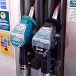 Unleaded and diesel pump nozzles