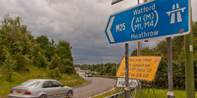 Learner driver fined £220 for hitting 132mph on the M25