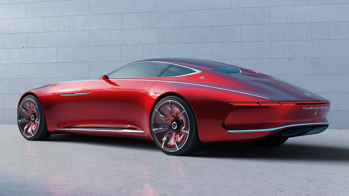 vision mercedes maybach 6 the luxury electric super coupe motoring research. Black Bedroom Furniture Sets. Home Design Ideas