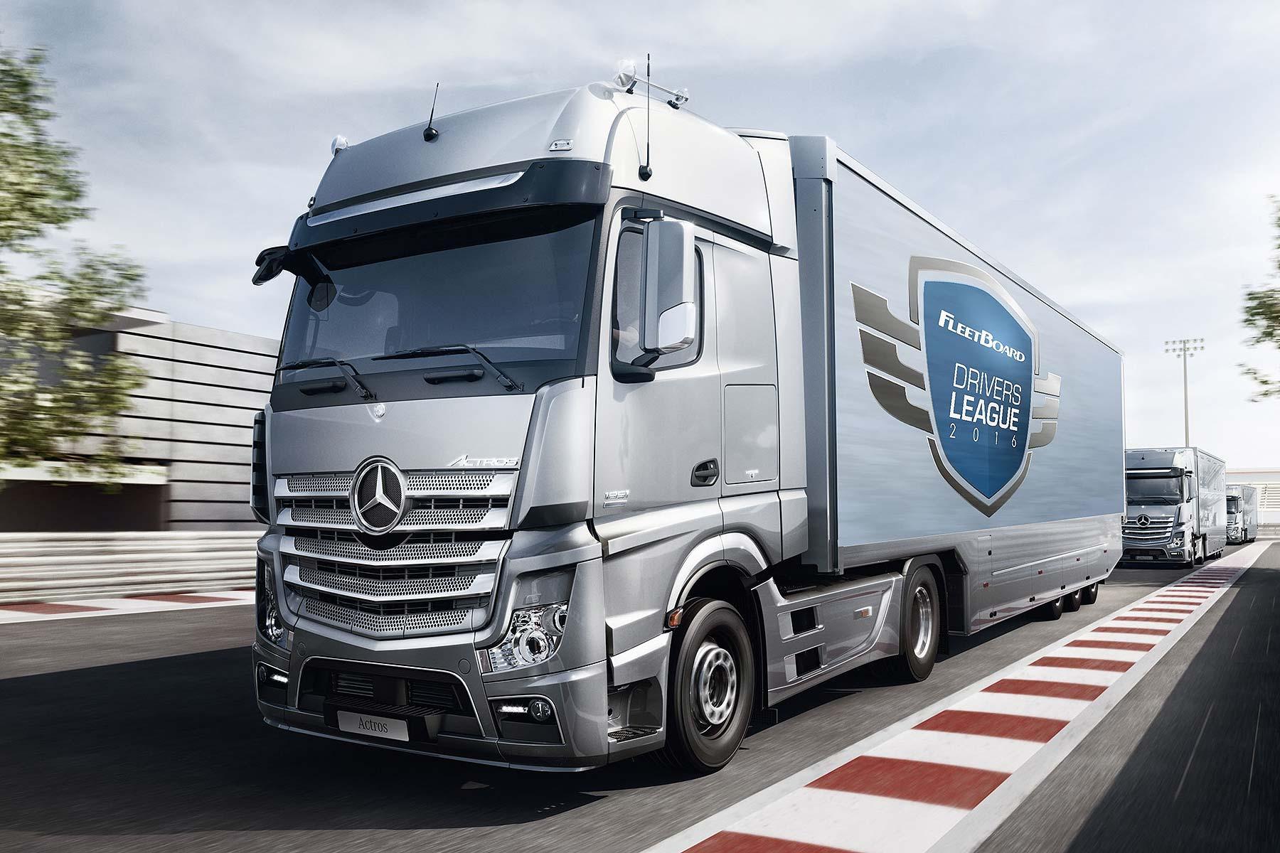 Mercedes-Benz truck convoy