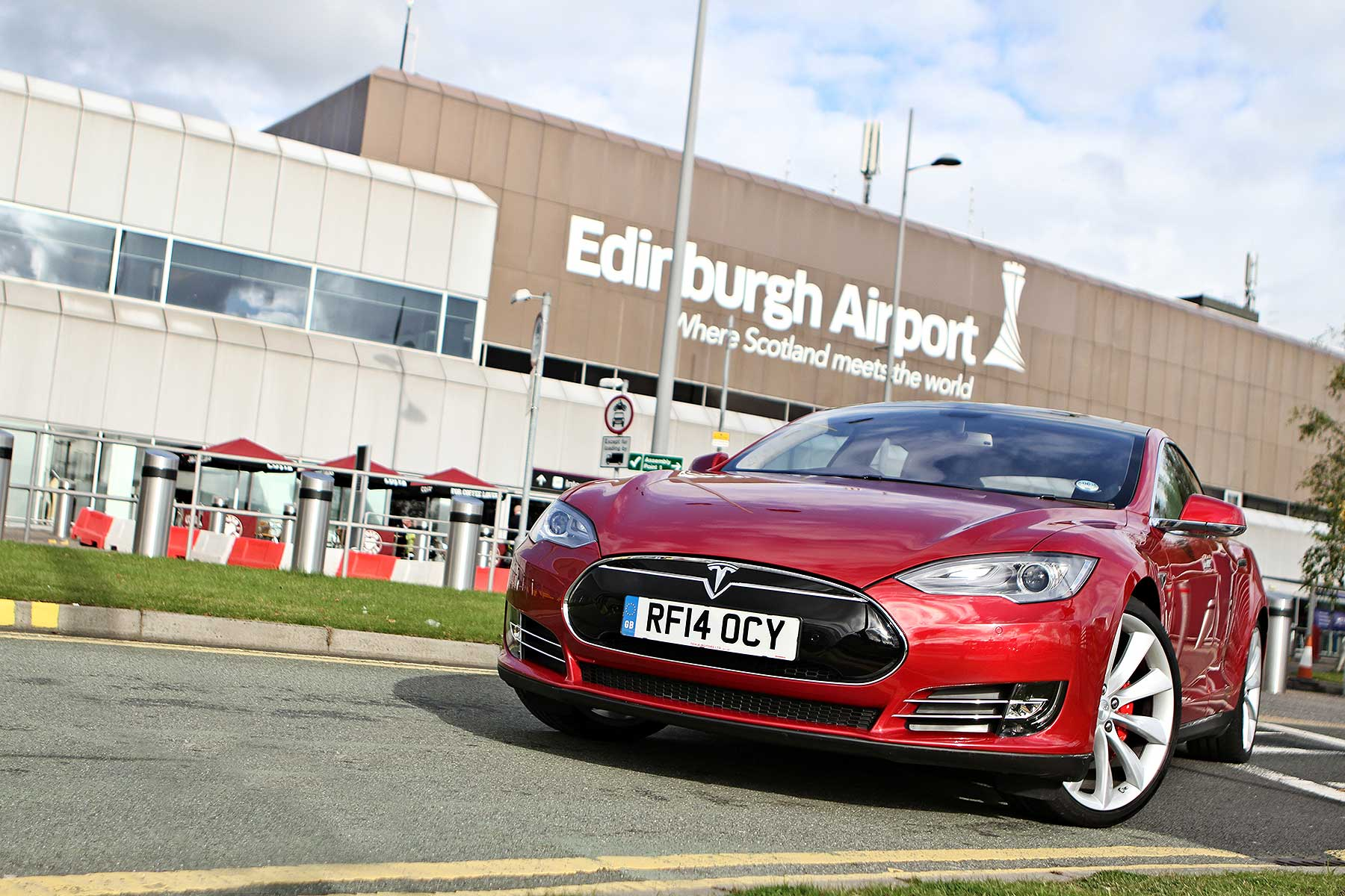 Tesla at Edinburgh Airport
