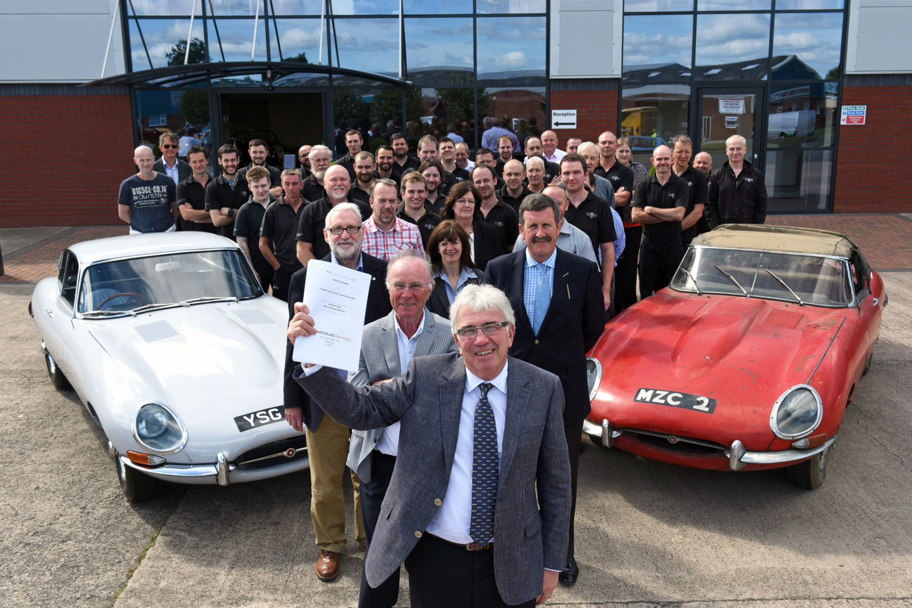 Classic car company boss gives firm to staff