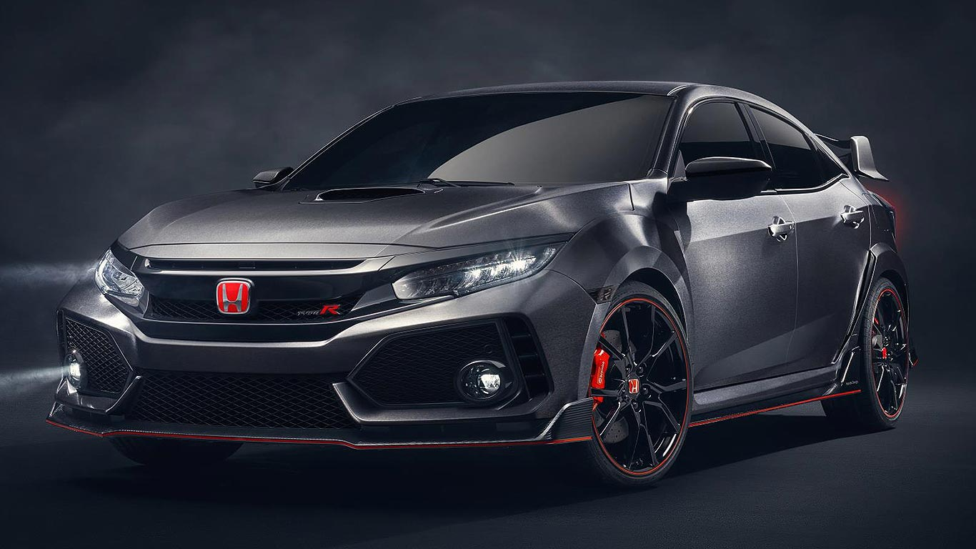 honda civic type r prototype revealed in paris motoring. Black Bedroom Furniture Sets. Home Design Ideas
