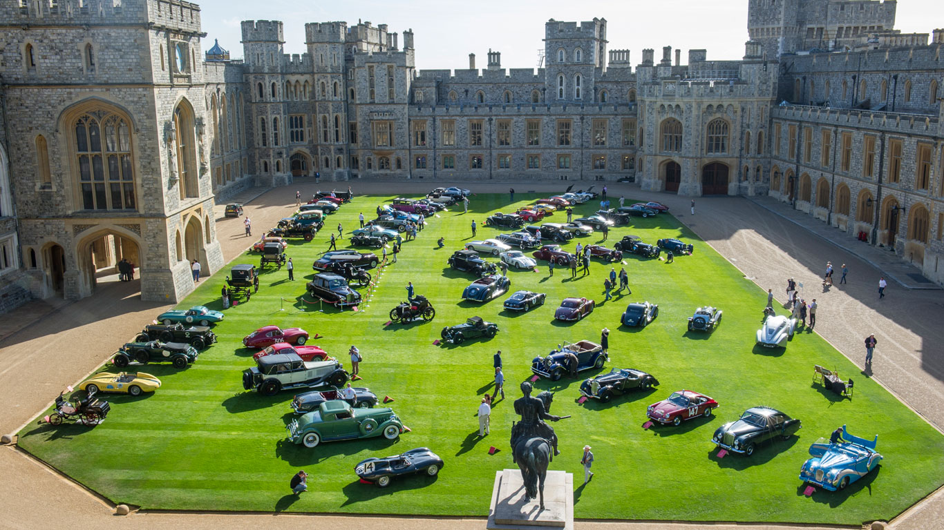 Royal Rumble Classics Compete At Windsor Castle Concours