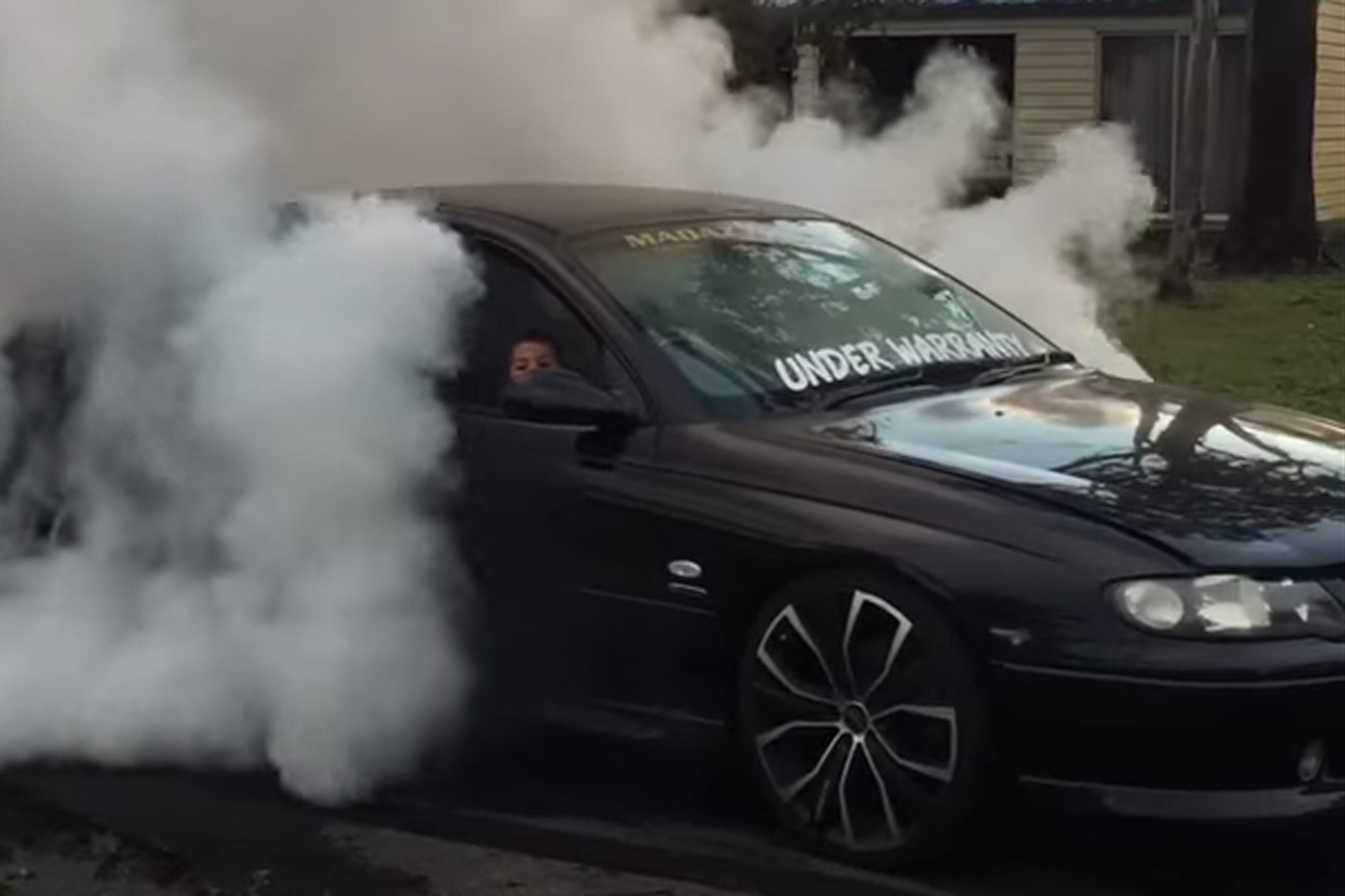Cops seize car after 5-year-old filmed doing a burnout