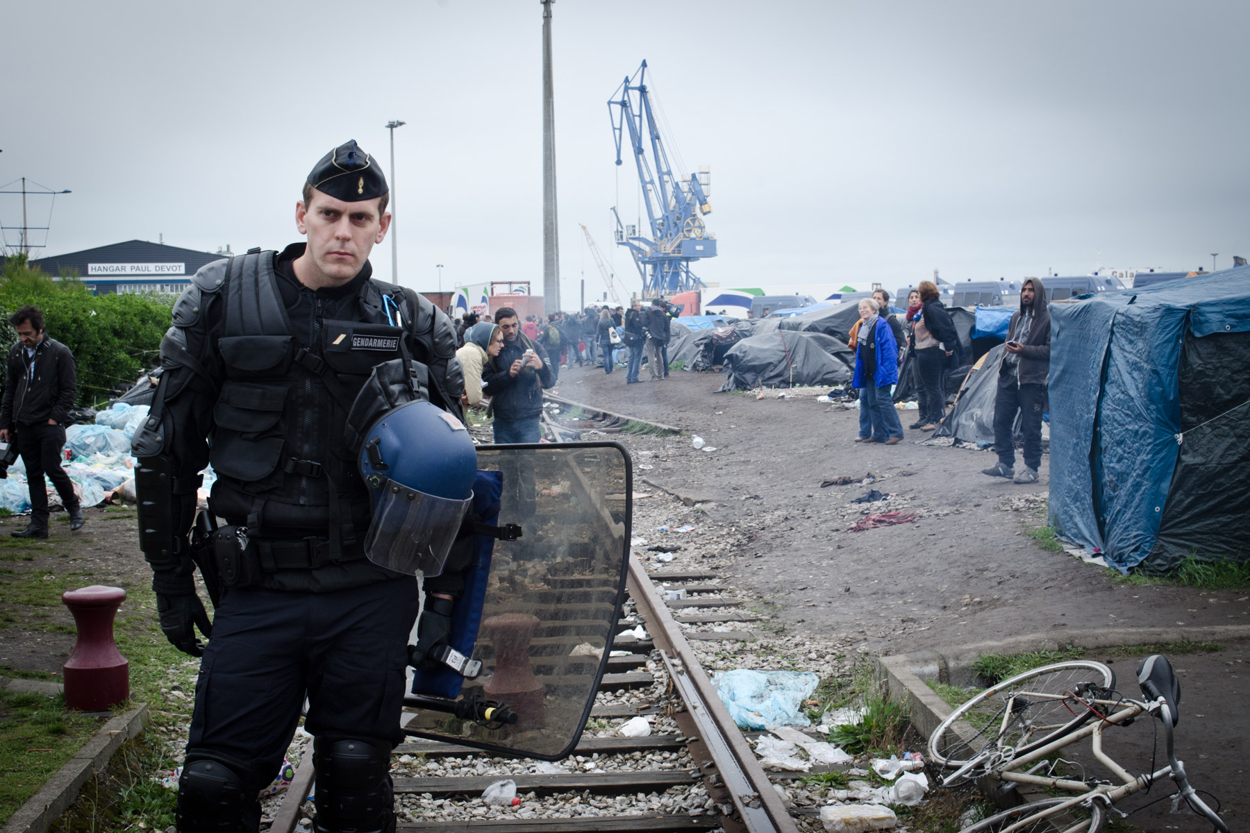 Chaos in Calais: lorry drivers block motorways in 'operation escargot' protest