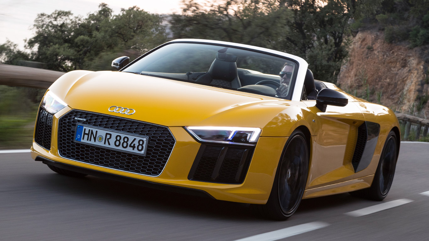 2016 audi r8 spyder review open air v10 thunder. Black Bedroom Furniture Sets. Home Design Ideas