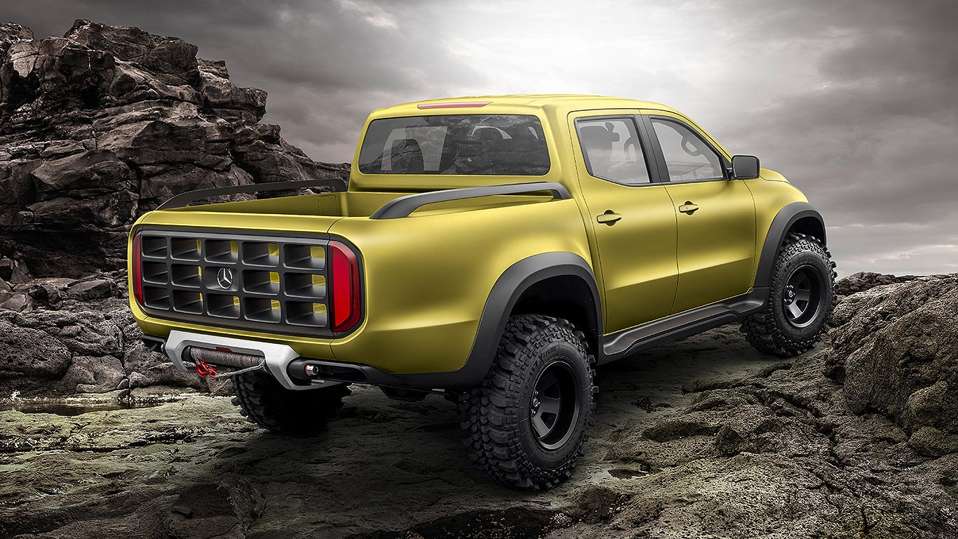 Mercedes benz x class pick up concept everything you need for Mercedes benz trucks