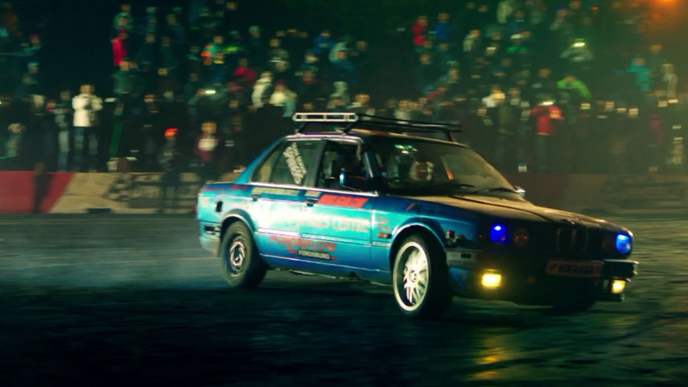 Spinning in an E30 BMW 3 Series
