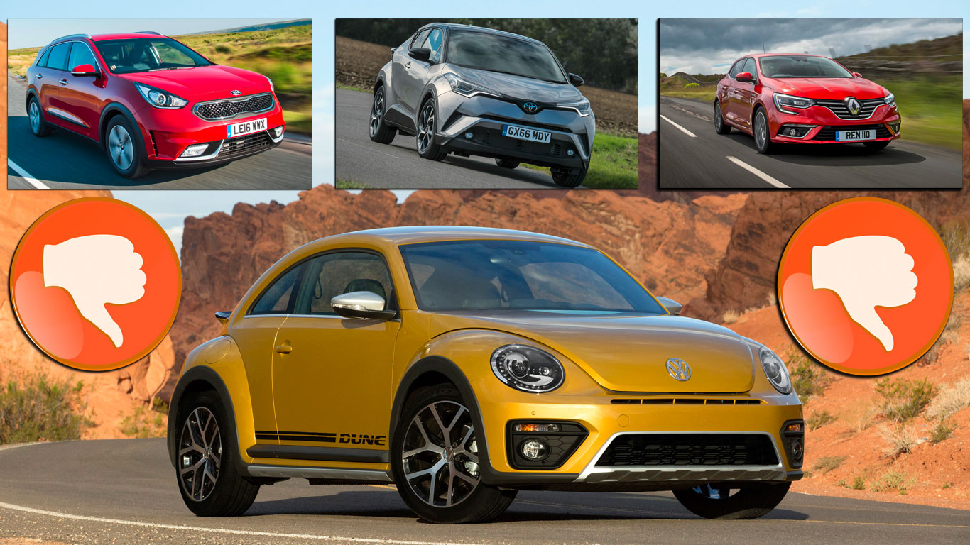 Revealed: the 8 most disappointing cars we've driven in 2016