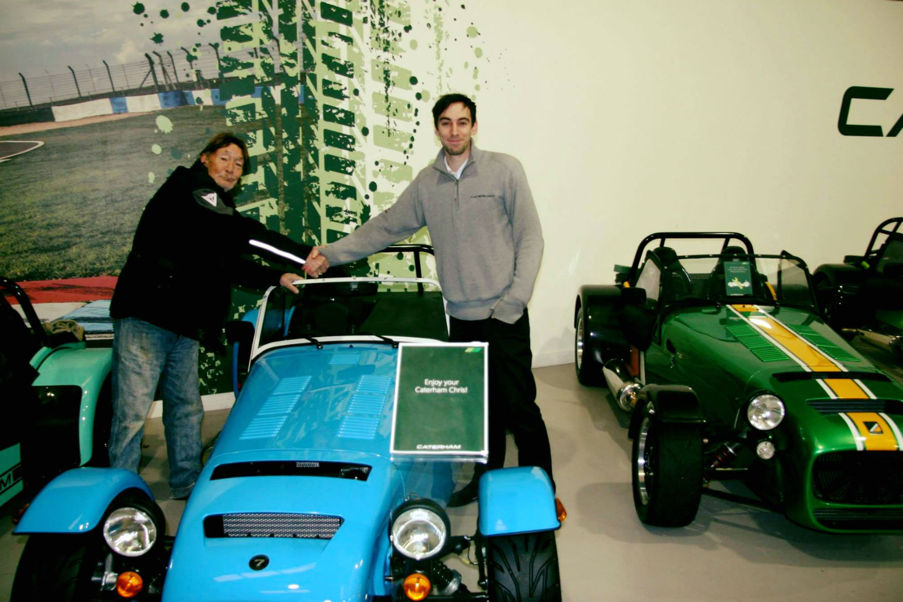 Chris Rea is driving home for Christmas in a Caterham