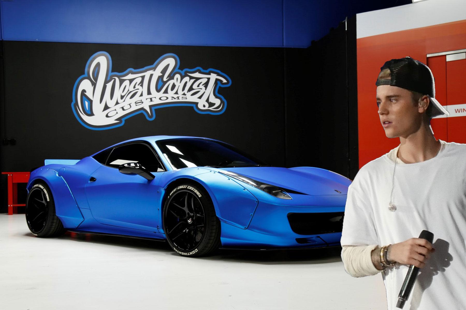 Justin Bieber is selling his modified Ferrari 458