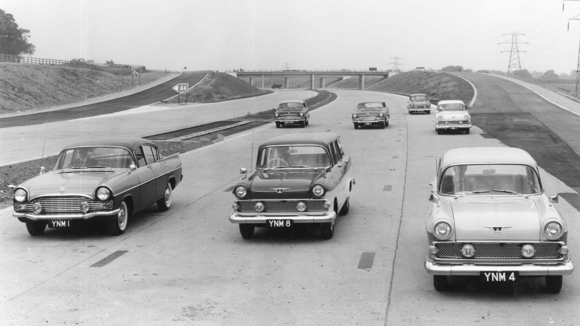 Vauxhalls on the motorway