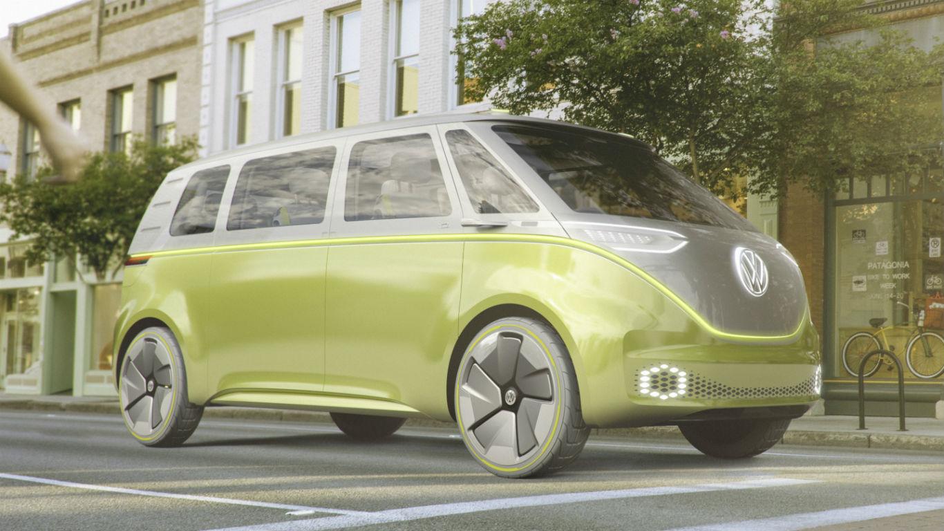 Flower power: Volkswagen I.D. Buzz concept revealed at Detroit