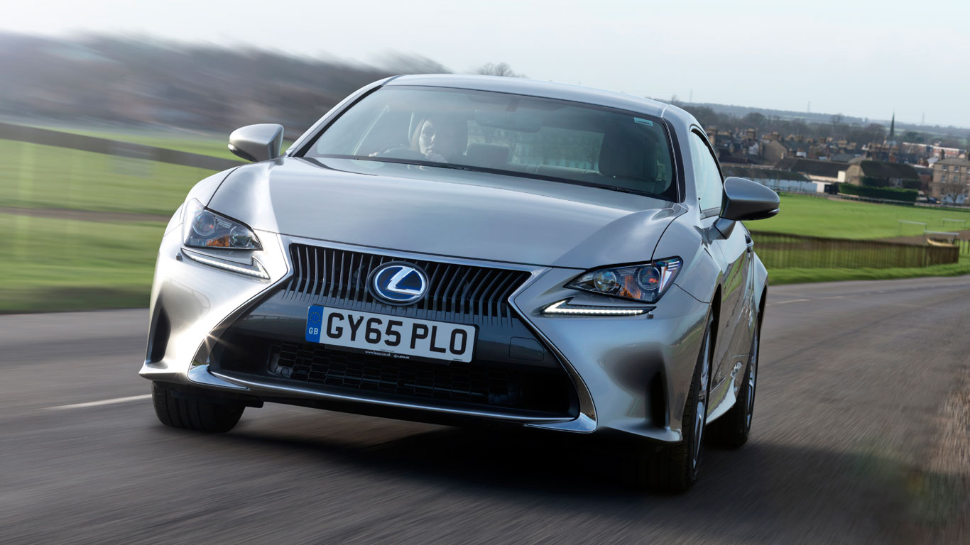 8. Lexus RC 300h 2.5 F-Sport 2dr CVT Auto: £990 increase