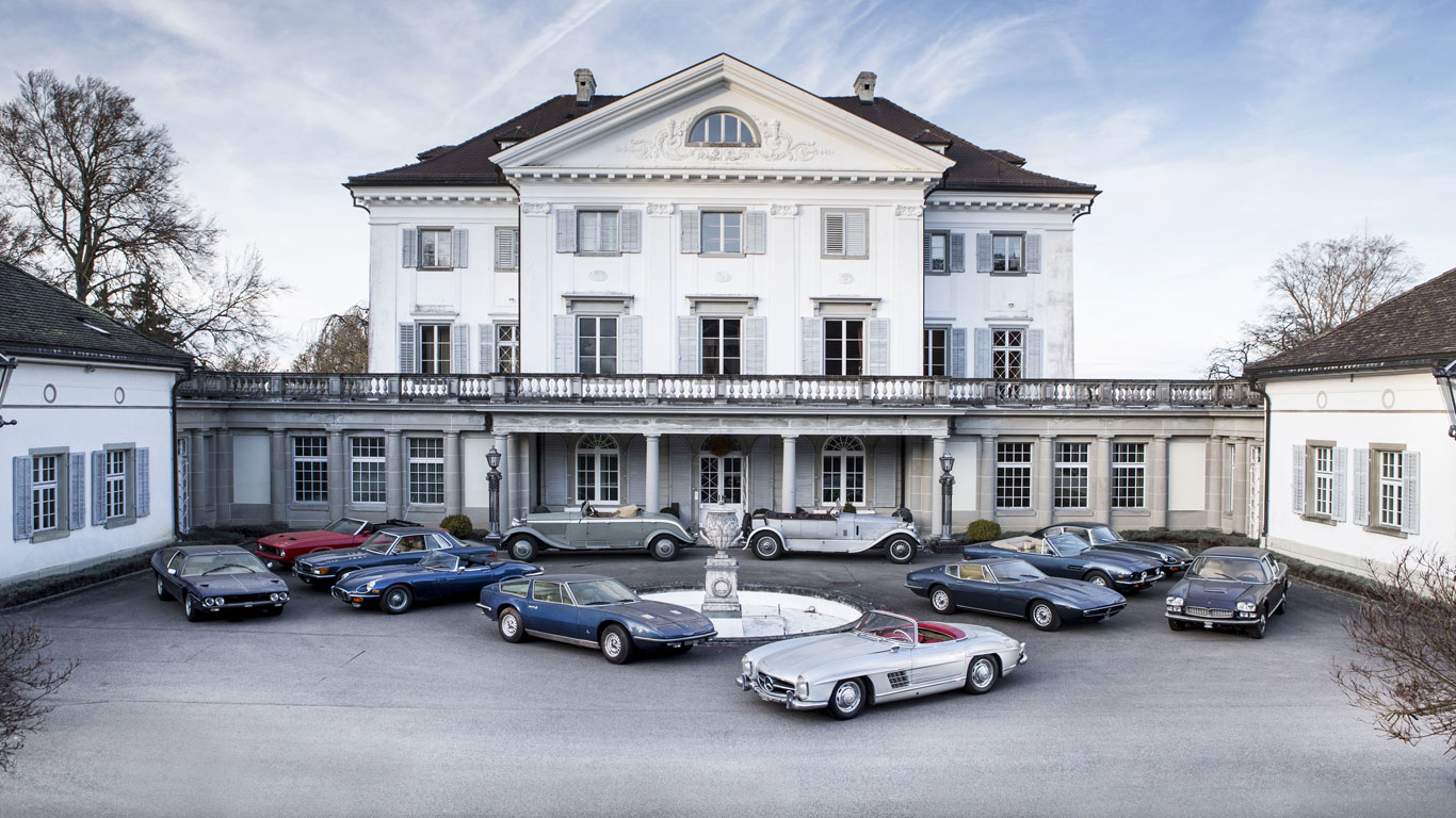Unique Swiss 'castle-find' car collection for sale