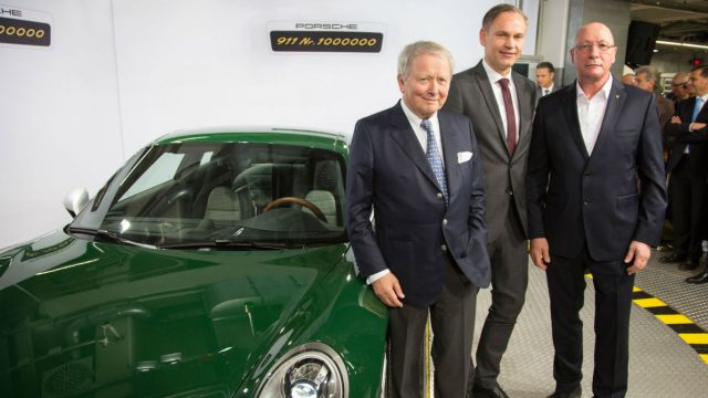 Porsche builds its one-millionth 911
