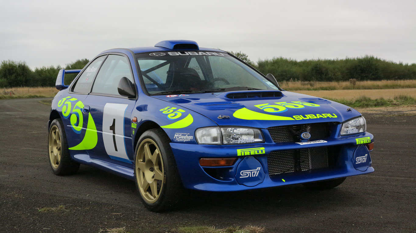 colin mcrae s iconic wrc subaru for sale motoring research. Black Bedroom Furniture Sets. Home Design Ideas