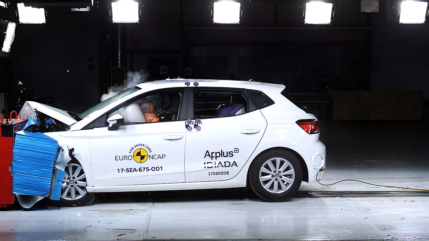 Seat Ibiza Frontal Offset Impact crash test 2017