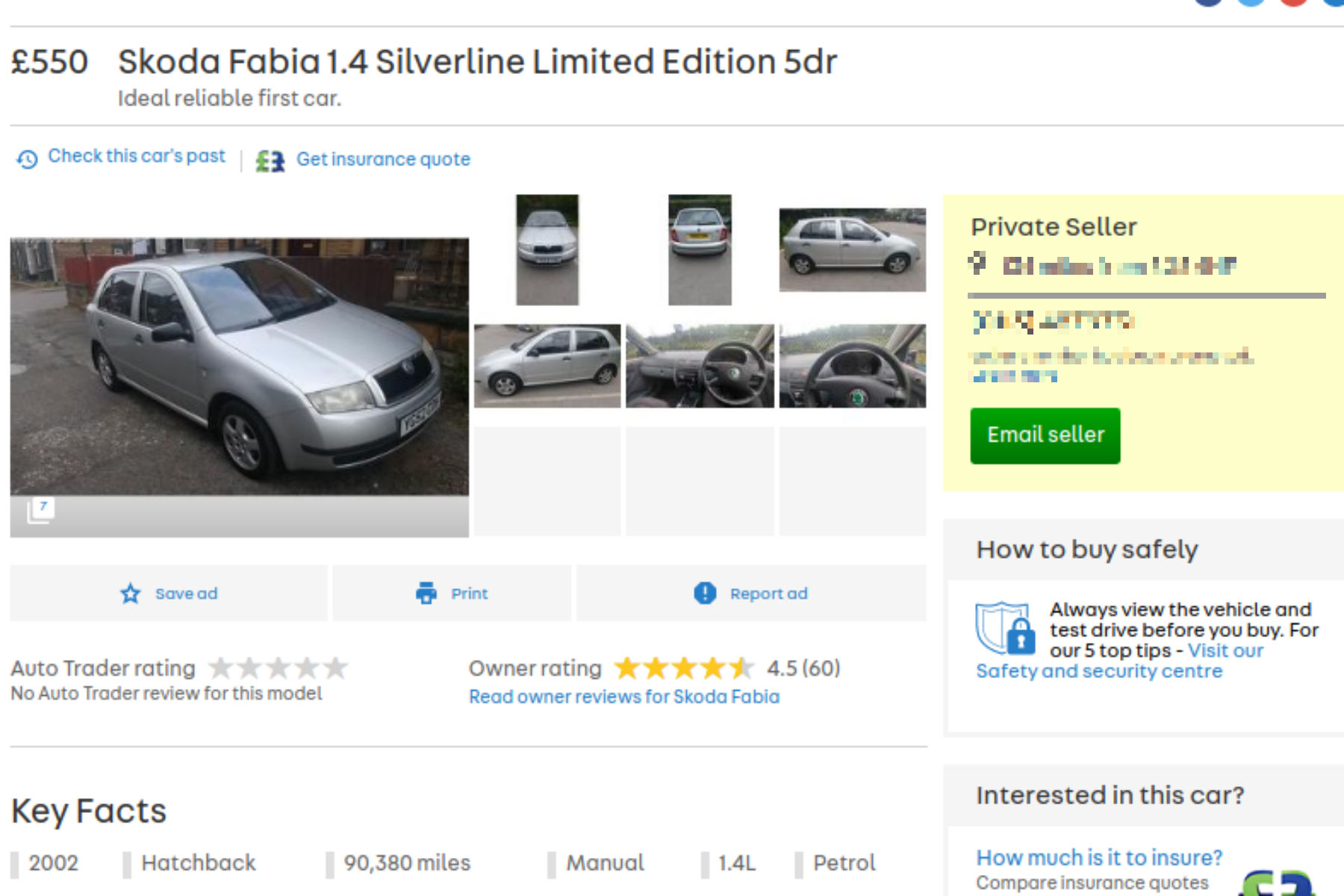 'Celebs' go crazy for £550 Skoda Fabia on Auto Trader