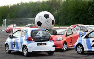 Striking partnership: football and cars in pictures