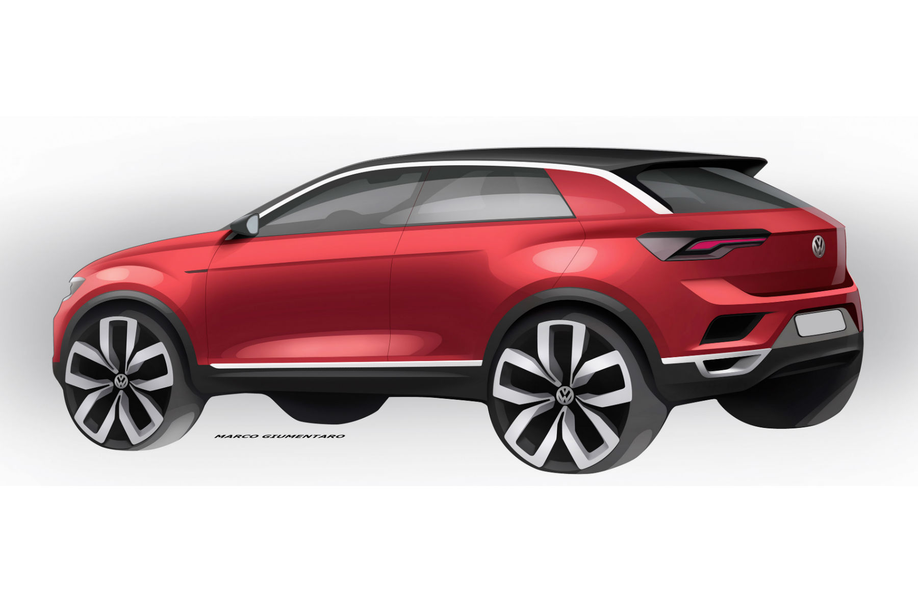 Volkswagen T-Roc teased ahead of next week's debut