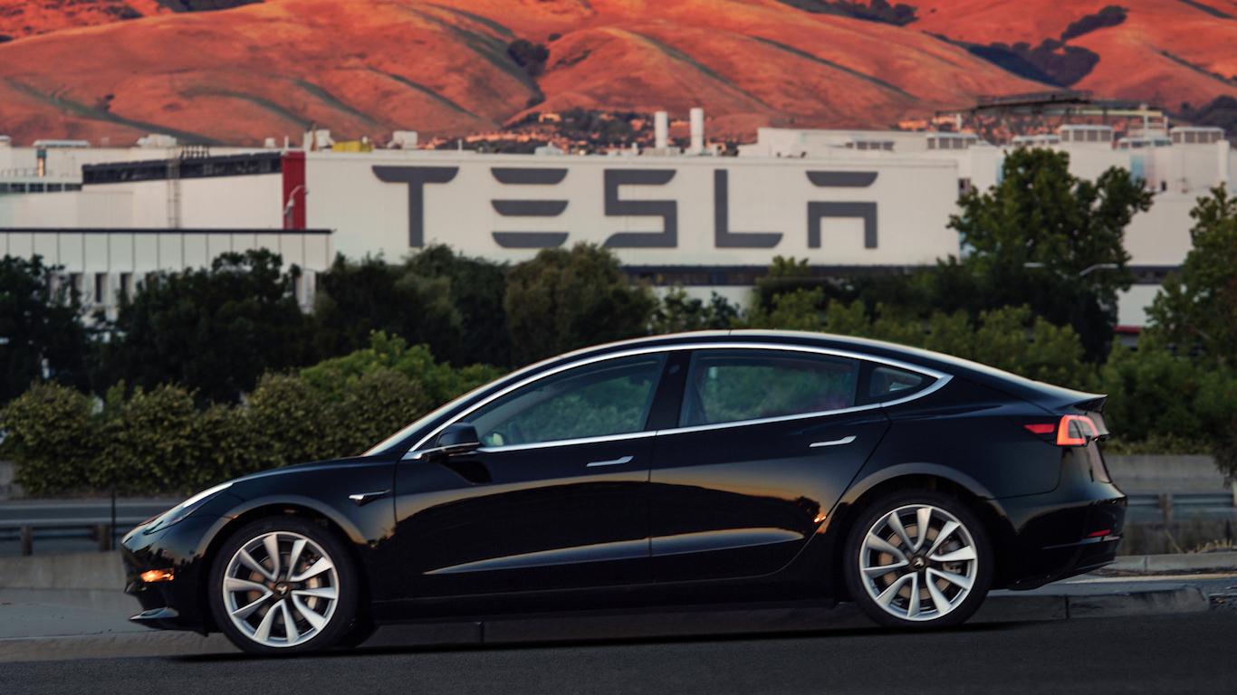 16. Tesla - @teslamotors - 2.3m