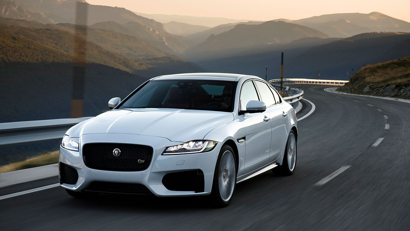 Large and luxury, winner: Jaguar XF