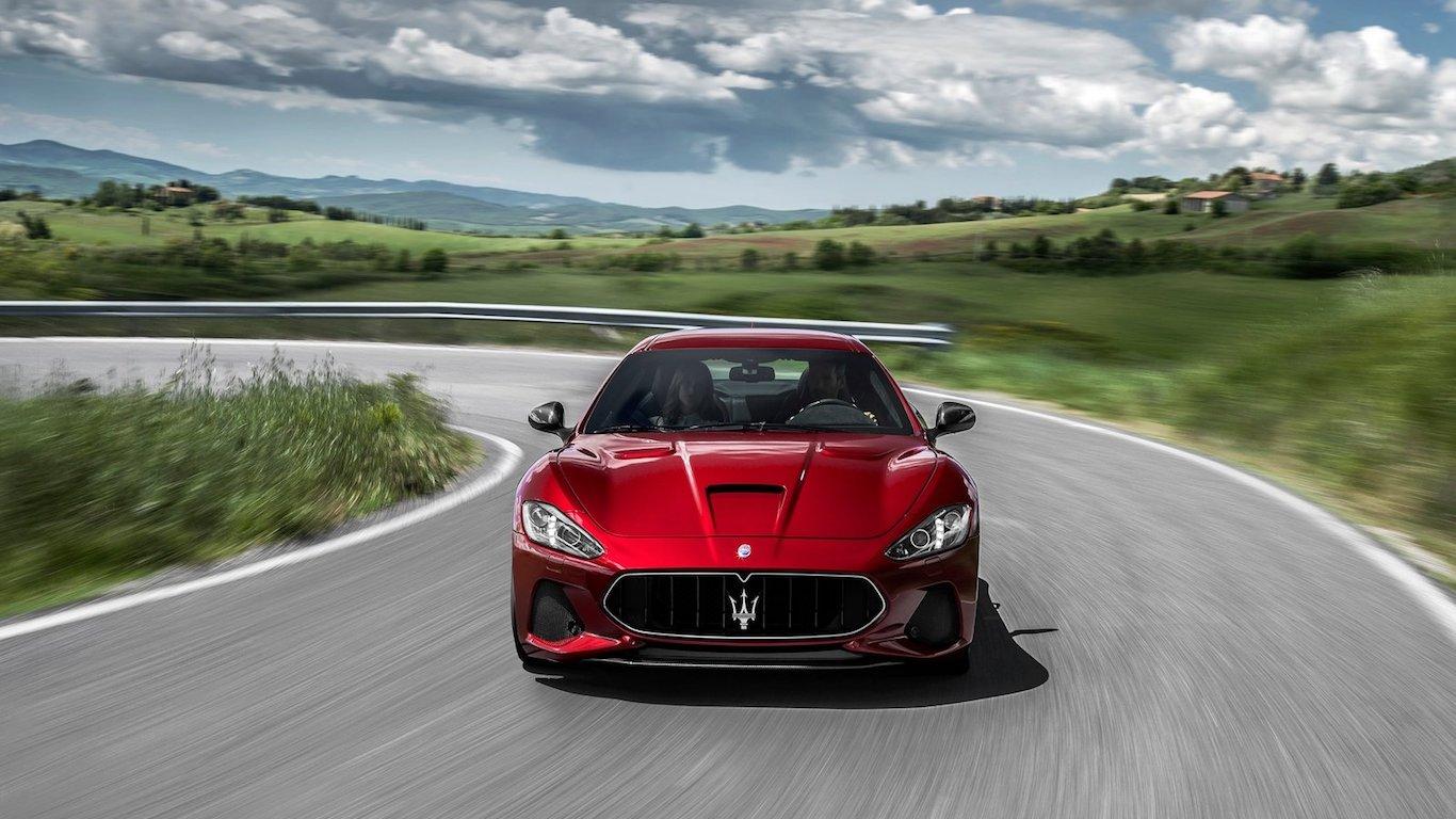 6. Maserati - @maserati - 5.4m