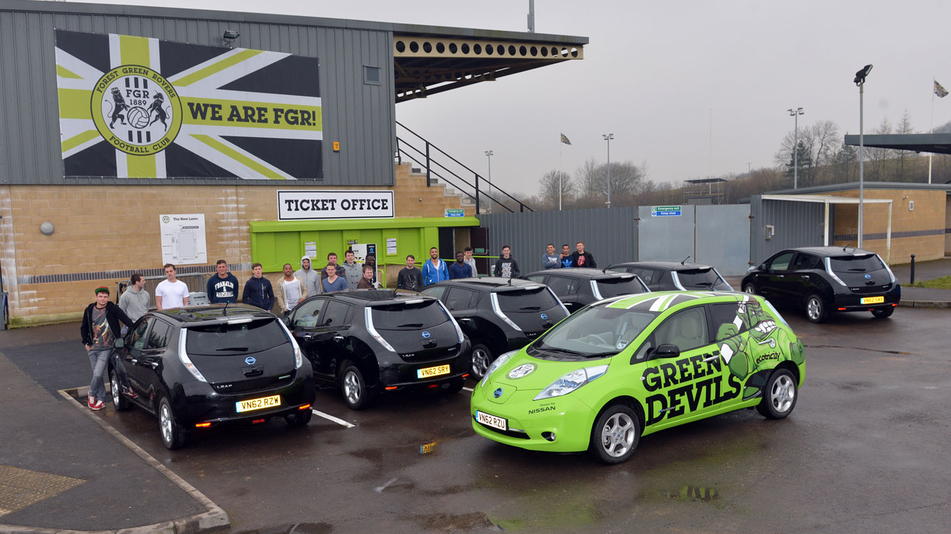 Nissan Leaf and Forest Green Rovers