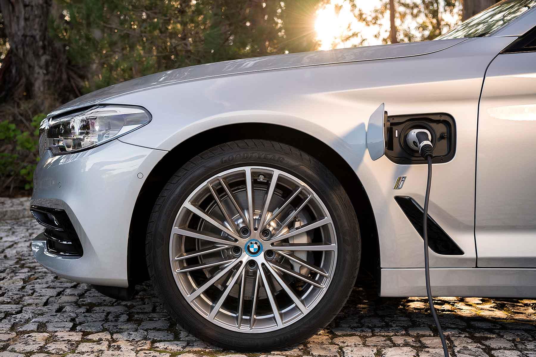BMW electrified plug-in hybrid car