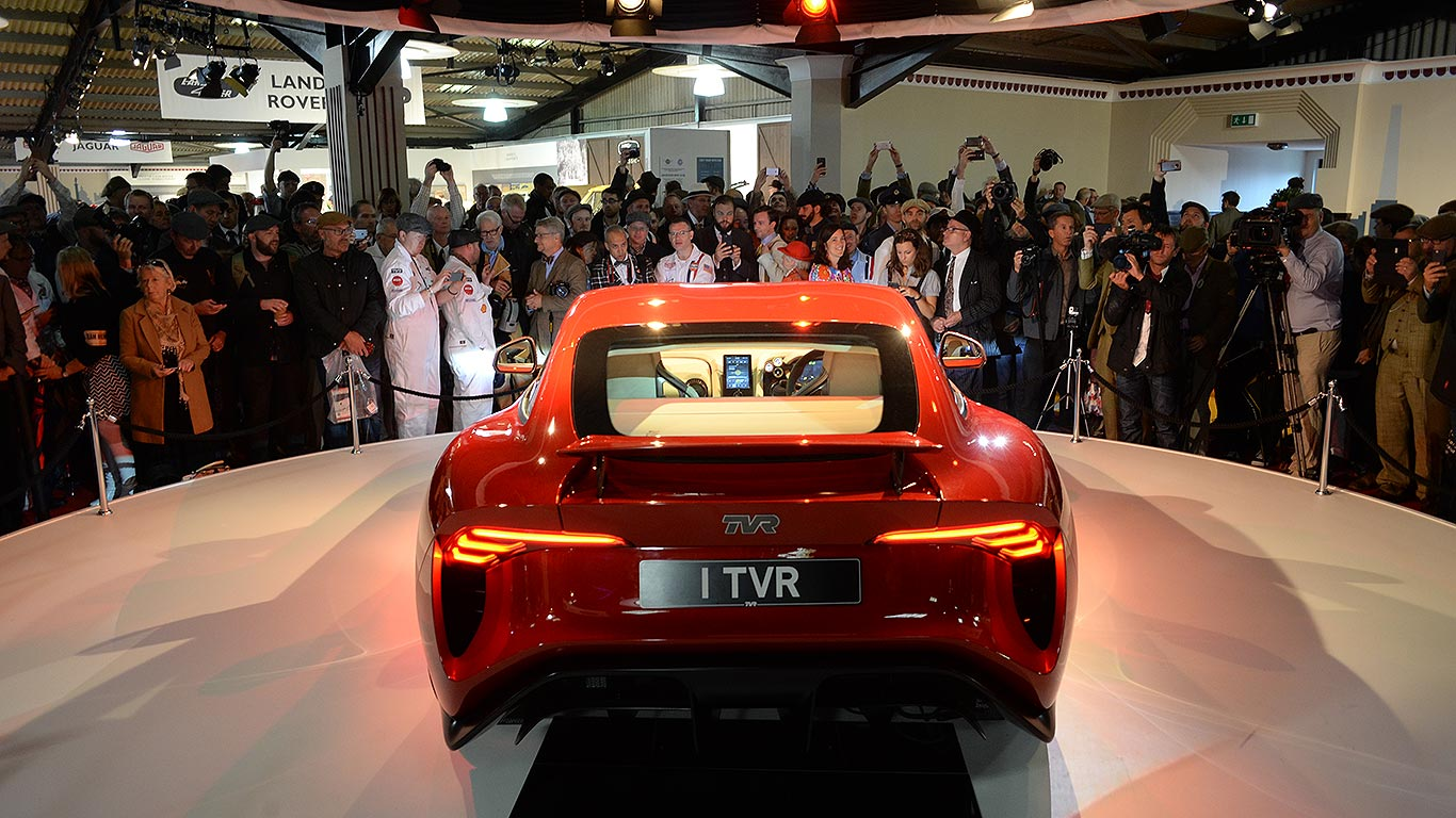 watch the new tvr griffith revealed at goodwood motoring research. Black Bedroom Furniture Sets. Home Design Ideas