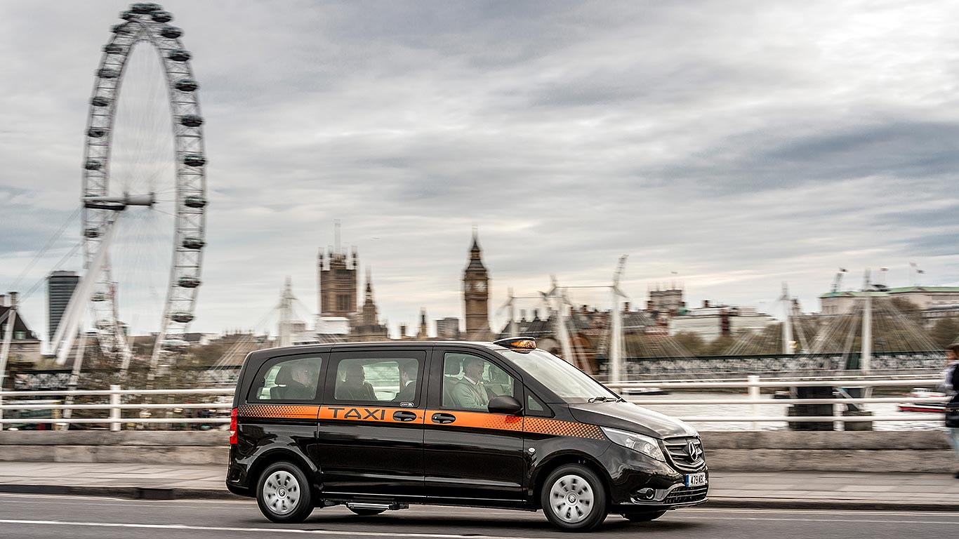 Mercedes benz taxi outsells real london taxi in london for London mercedes benz