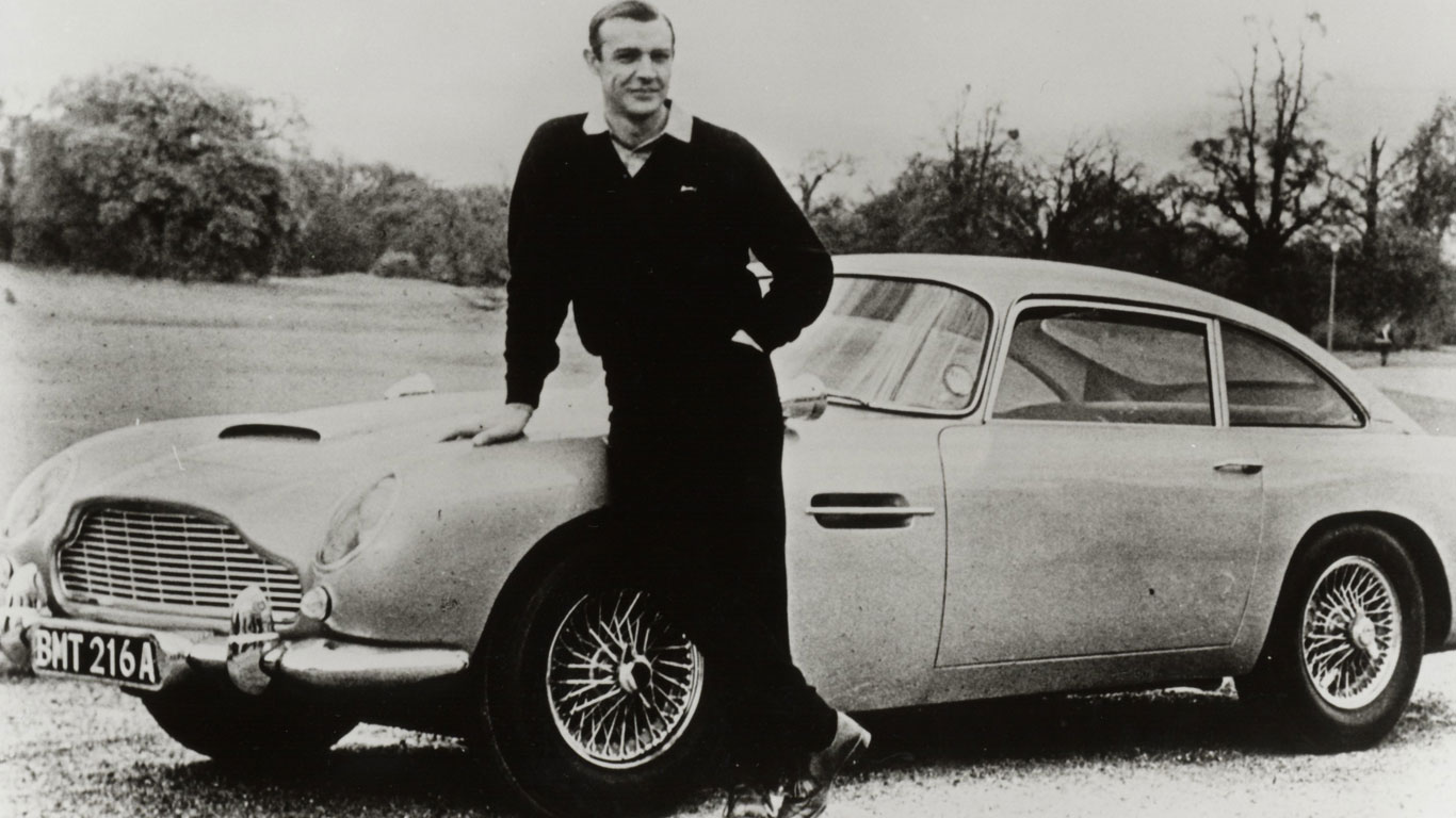 Bond girls cars on show in London