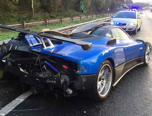 £1.5 million Pagani Zonda crashed in West Sussex