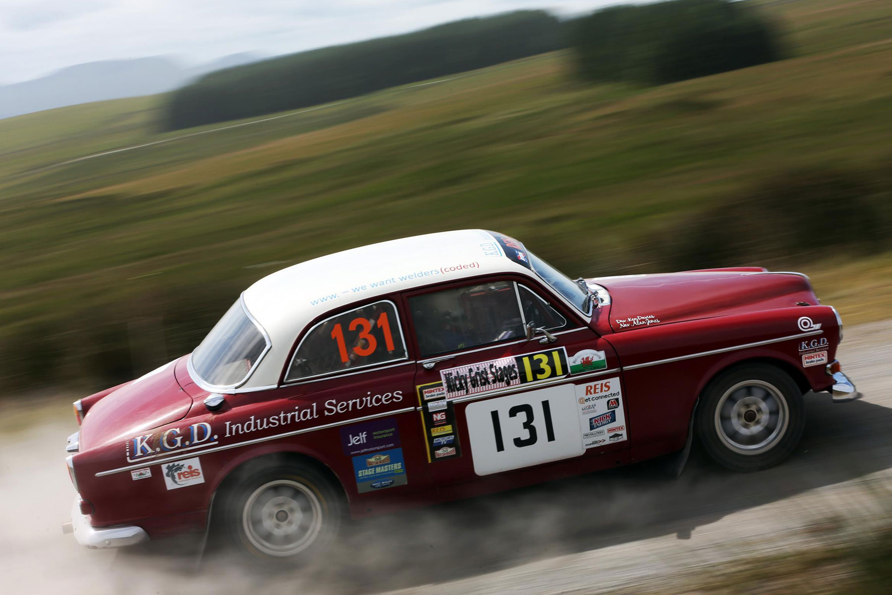 Volvo Amazon rally car