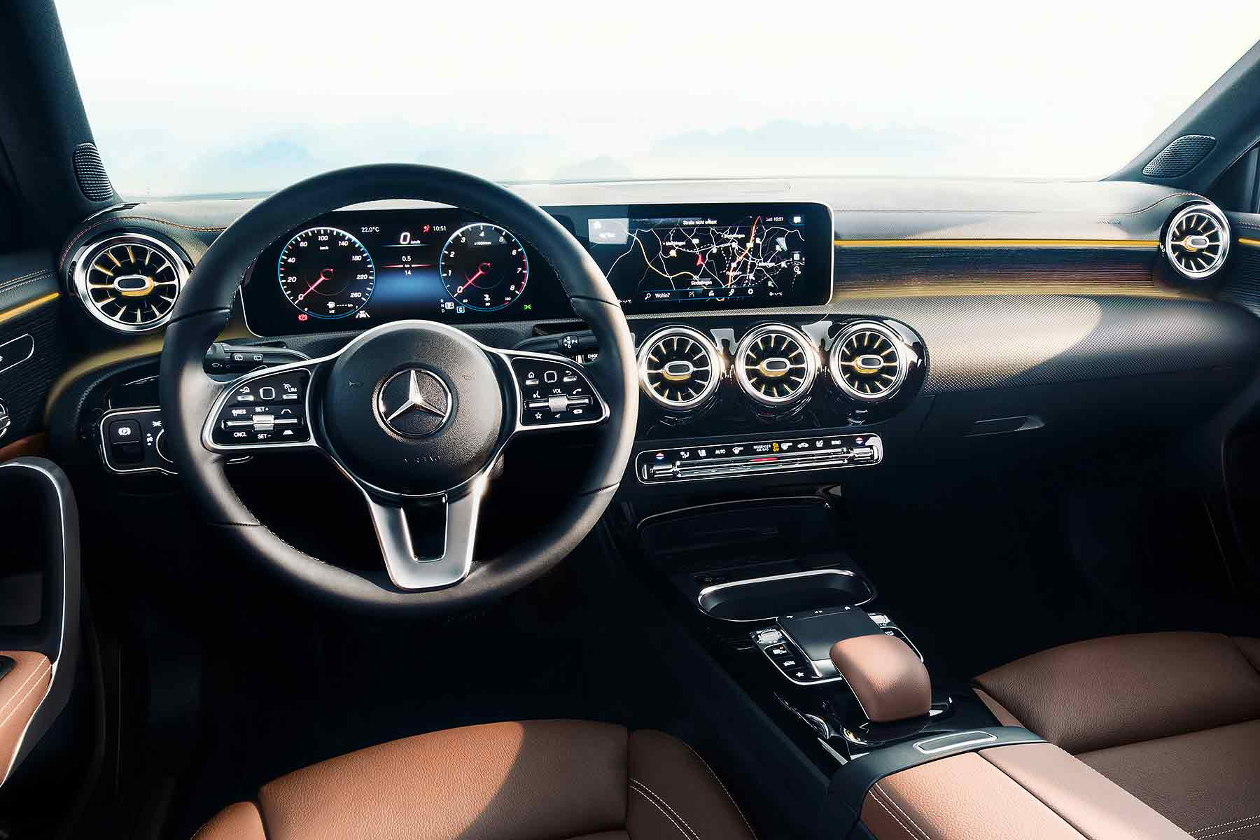 New 2018 mercedes benz a class interior revealed for Mercedes a klasse amg interieur