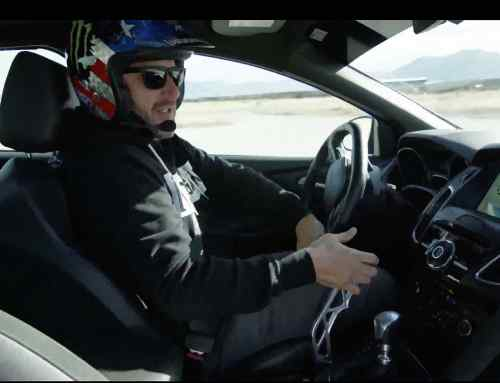 Watch Ken Block demonstrate the Ford Drift Stick
