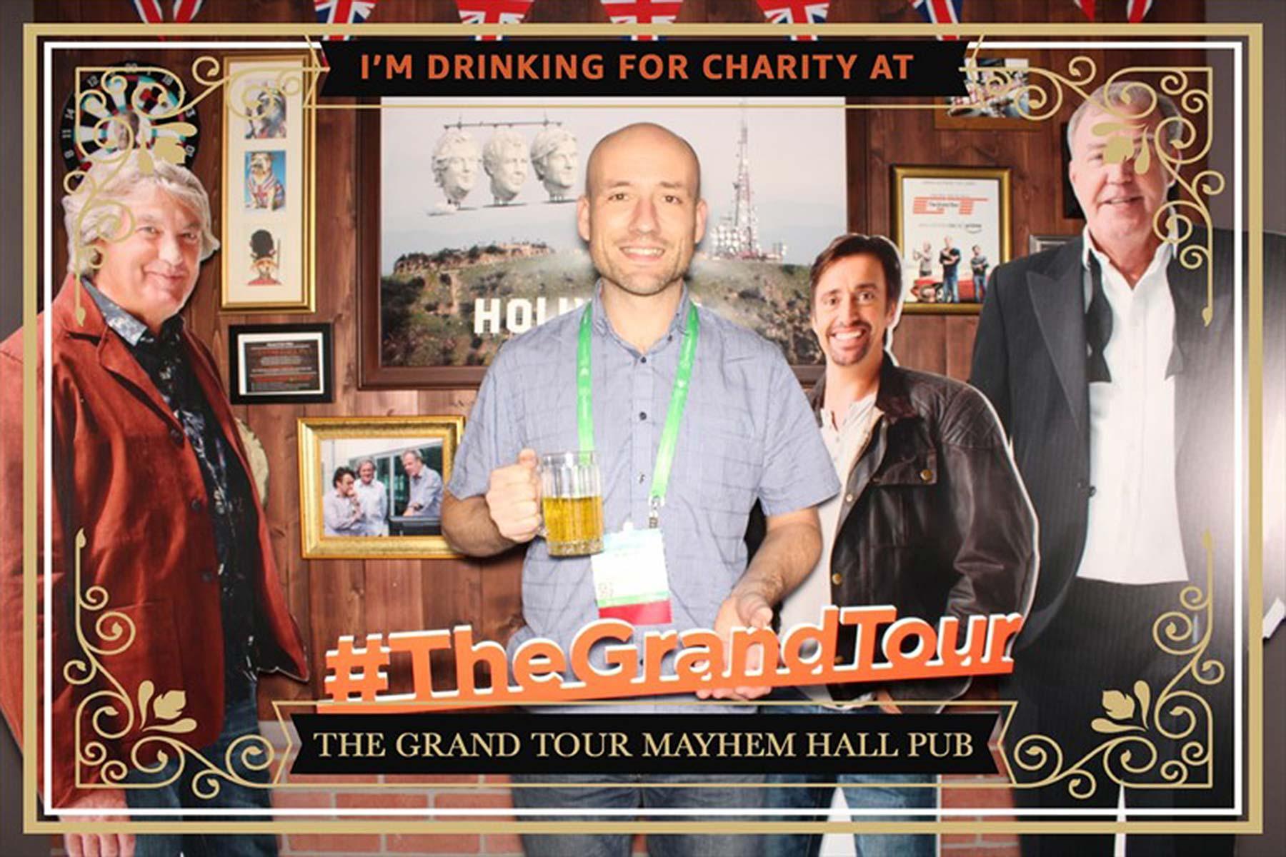 The Grand Tour pub selfie