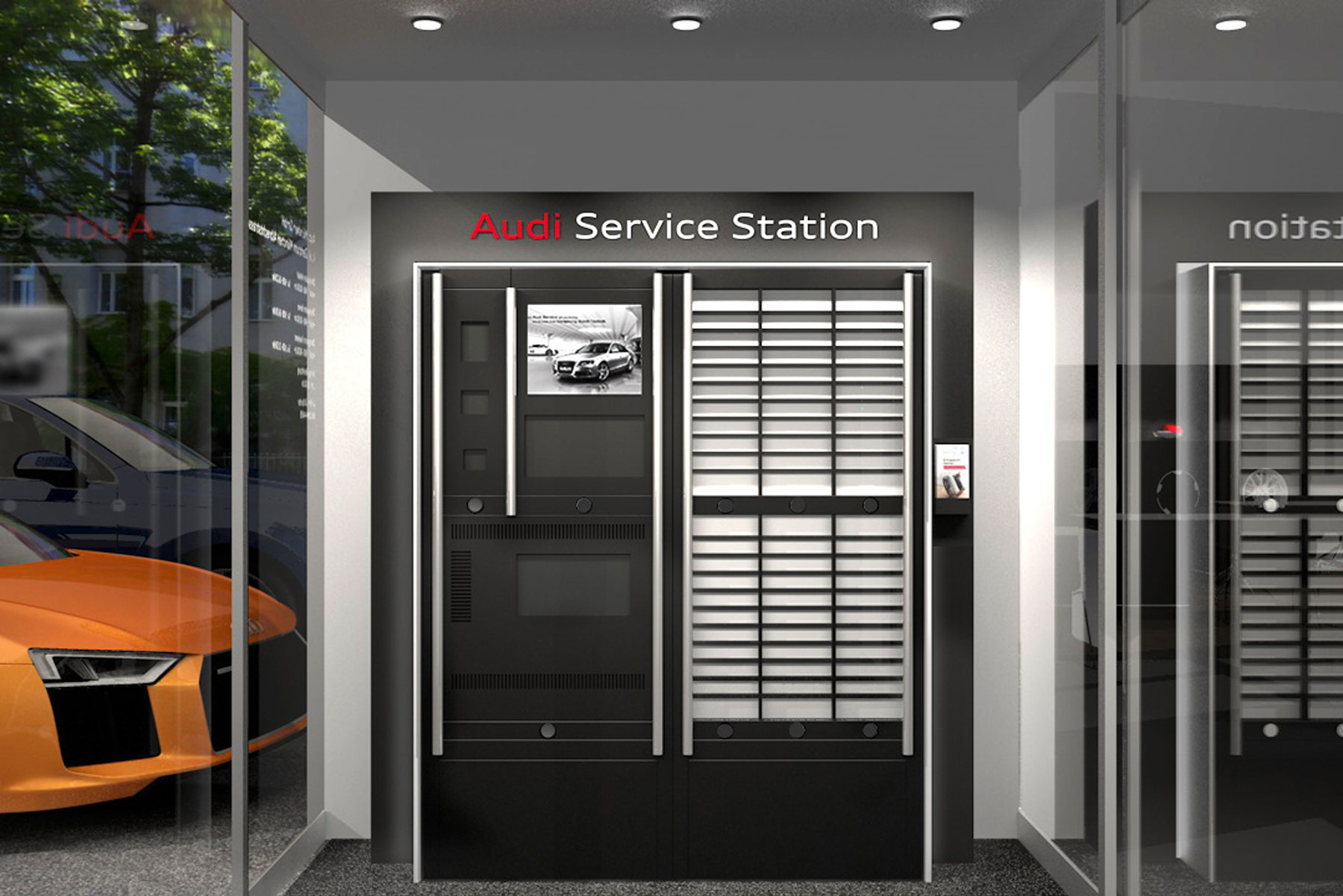 Audi digital service station