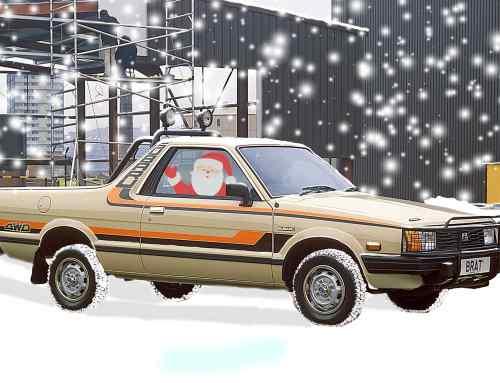 Santa would drive a Subaru BRAT