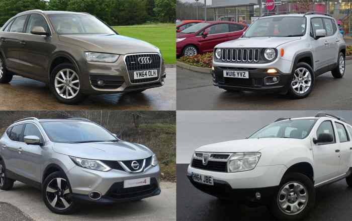 Used SUVs for less than £200 a month