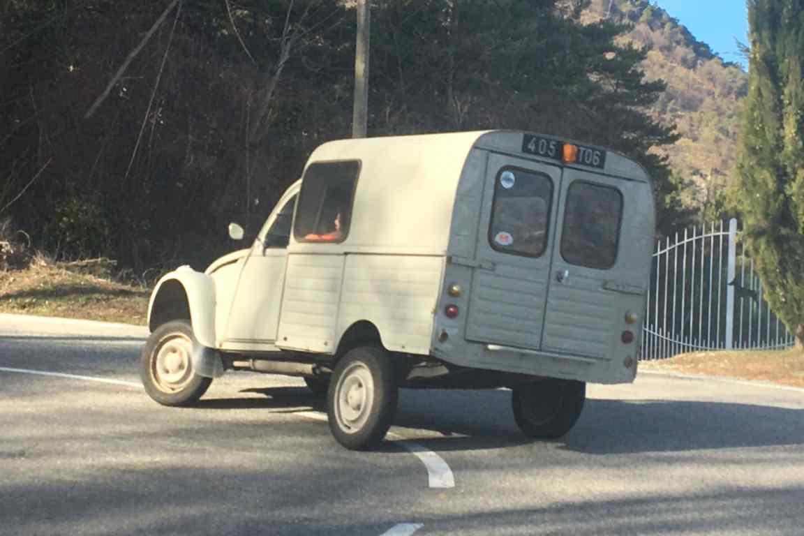Crazy 2CV van driver