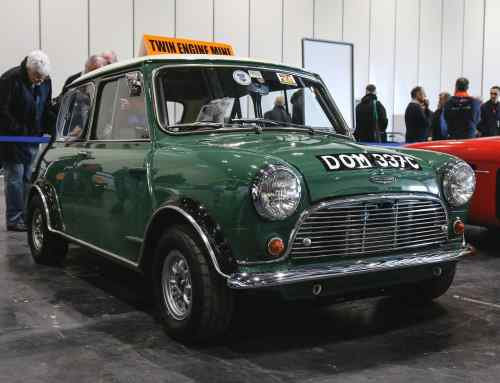 This twin-engined Mini is an early example of a 4×4 rally car